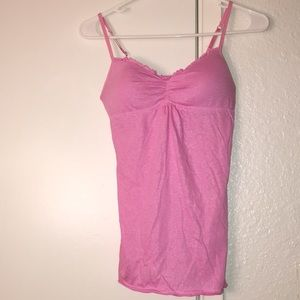Energie pink cami with built-in bra size S juniors